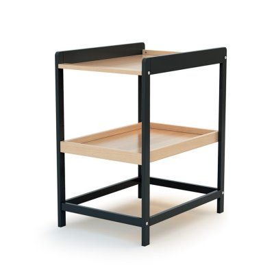 Table à langer confort graphite / hêtre verni At4