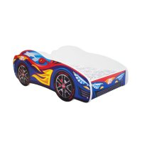 Lit junior 70 x 140 cm voiture racing car rouge / bleu