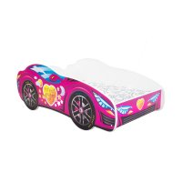 Lit junior 70 x 140 cm voiture racing car sweet rose
