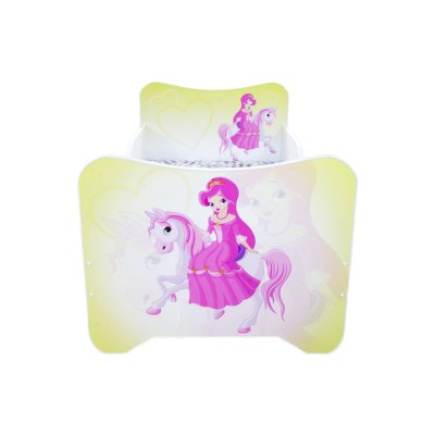 Lit junior 70 x 140 cm un monde joyeux sans tiroir pony poney Top beds