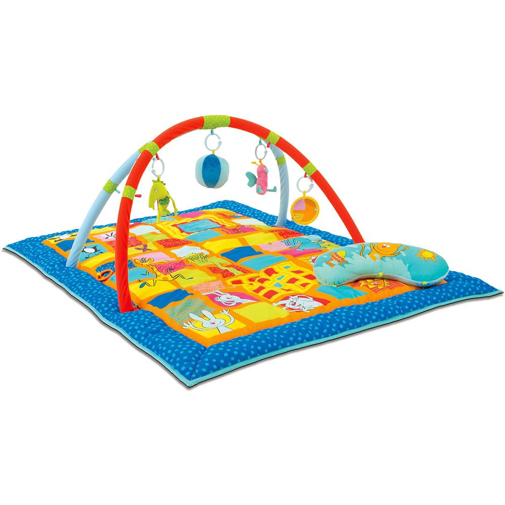 tapis d 39 eveil aire de jeu 3 en 1 de taf toys sur allob b. Black Bedroom Furniture Sets. Home Design Ideas