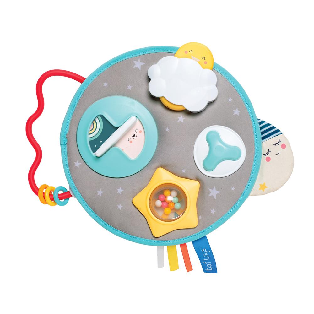 7029694387f0f Jouet d éveil bébé centre d activités mini lune de Taf toys sur allobébé
