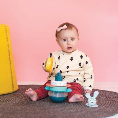 Jouet d'éveil bébé pyramide lapin Taf toys