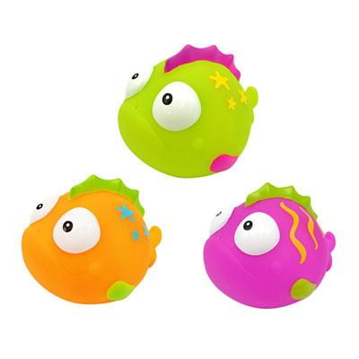 Jouets de bain bébé 3 aspergeurs poissons Taf toys