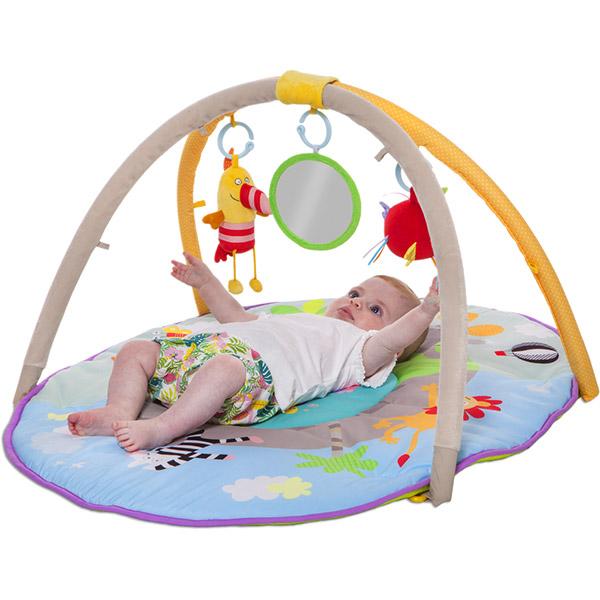 tapis d 39 veil aire de jeu jungle de taf toys chez naturab b. Black Bedroom Furniture Sets. Home Design Ideas