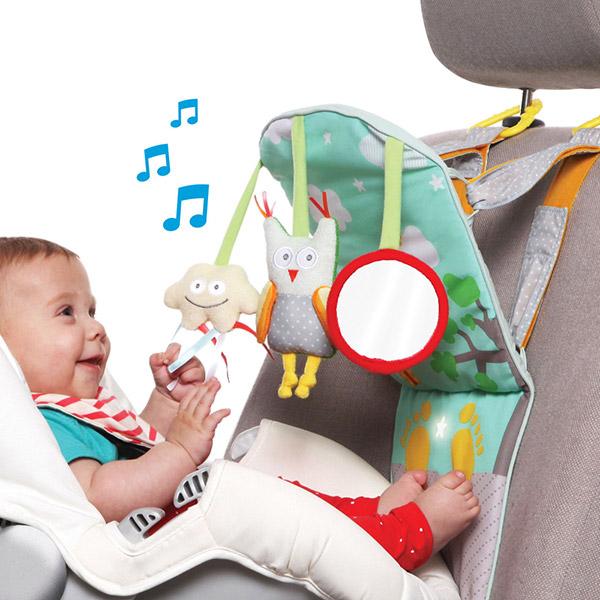 Jouets de voyage bébé tableau de voiture play and kick Taf toys