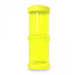 Lot de 2 boites doseuses 100ml jaune
