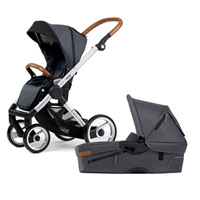 Pack poussette duo evo urban nomad/industrial standard dark grey