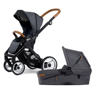 Pack poussette duo evo urban nomad/industrial black dark grey
