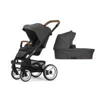 Pack poussette duo nio chassis black north grey