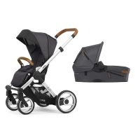 Pack poussette duo evo chassis standard urban nomad dark grey