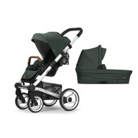 Pack poussette duo nio chassis standard pine green