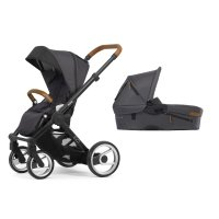 Pack poussette duo evo chassis black urban nomad dark grey