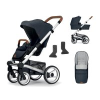 Pack poussette duo nio north blue shade + pack accessoires offerts