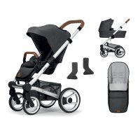 Pack poussette duo nio north grey + pack accessoires offerts