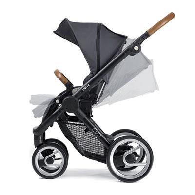 Poussette 4 roues evo urban nomad/industrial black dark grey Mutsy