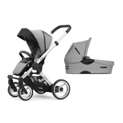 Pack poussette duo evo chassis standard bold pebble grey Mutsy