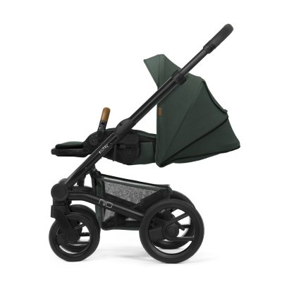 Pack poussette duo nio chassis black roues black pine green 2020 Mutsy