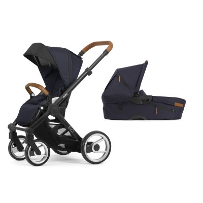 Pack poussette duo evo chassis black urban nomad deep navy Mutsy