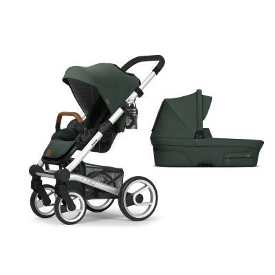 Pack poussette duo nio chassis standard pine green Mutsy