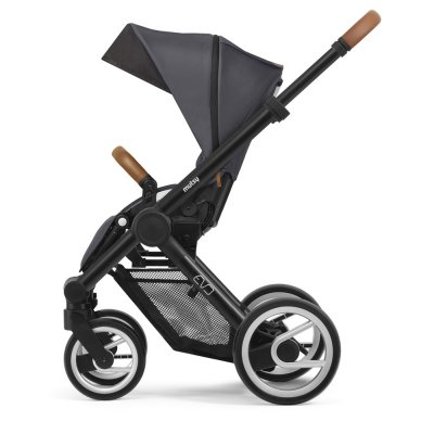 Pack poussette duo evo chassis black urban nomad dark grey Mutsy