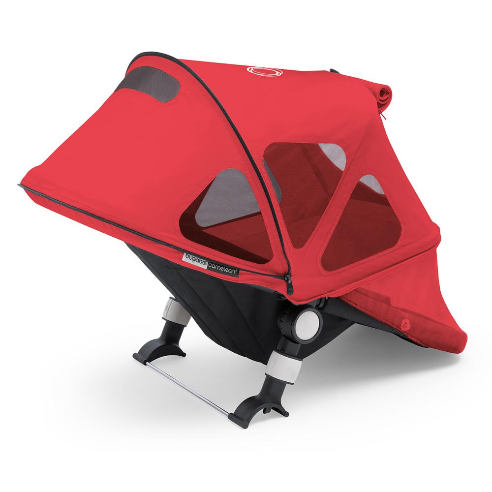protection soleil capote fen tres pour poussette fox et cameleon3 rouge n on de bugaboo sur. Black Bedroom Furniture Sets. Home Design Ideas