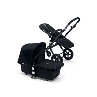 Pack poussette duo cameleon 3 + châssis et base noir avec capote et tablier noir