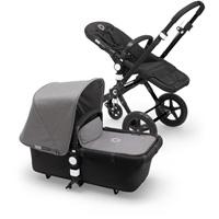 Pack poussette duo cameleon3+ châssis et base noir avec capote et tablier gris chiné