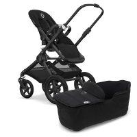 Pack poussette fox noir + housse de siège et habillage de nacelle noir