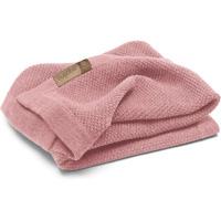 Couverture bébé en laine woolmark rose