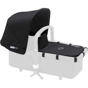 Capote extensible + tablier pour nacelle buffalo noir