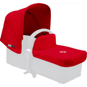 Capote extensible + tablier pour nacelle donkey rouge
