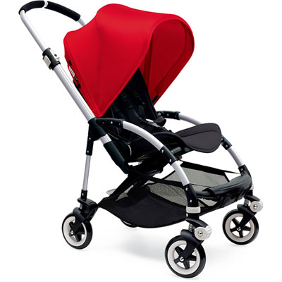 Capote extensible pour poussette bee3 rouge Bugaboo