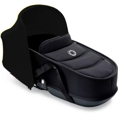 Nacelle bee3 avec habillage noir et capote noir Bugaboo