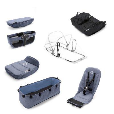 Style set pour poussette donkey2 mono bleu chiné Bugaboo