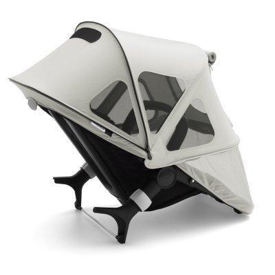 Protection soleil capote à fenêtres pour poussette fox et cameleon3 gris Bugaboo