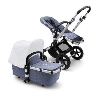 Pack poussette cameleon3+ châssis alu et habillages bleu chiné (sans capote) Bugaboo