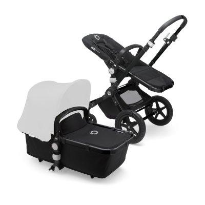 Pack poussette cameleon3+ châssis noir et habillages noir (sans capote) Bugaboo