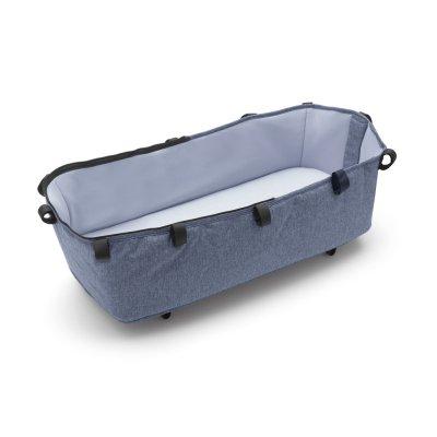 Pack poussette cameleon3+ châssis noir et habillages bleu chiné (sans capote) Bugaboo