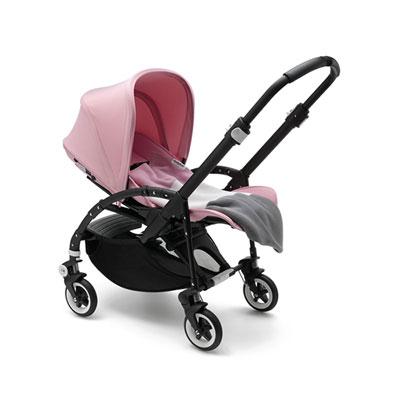 Poussette 4 roues bee3 modern pastel rose pâle avec couverture Bugaboo