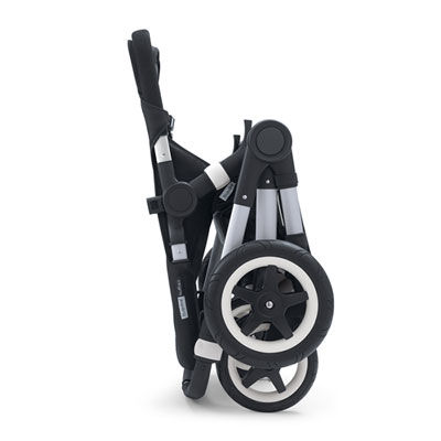 Pack poussette duo buffalo+ châssis alu base noir capote + tablier gris chiné Bugaboo