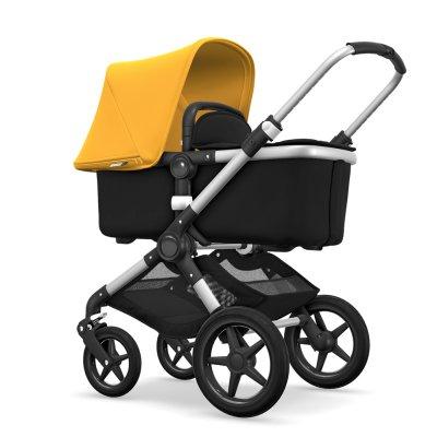 Pack poussette duo fox alu + style set noir et capote jaune Bugaboo