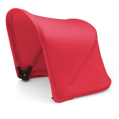 Pack poussette duo fox alu avec style set noir et capote rouge néon Bugaboo