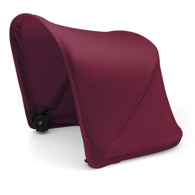 Pack poussette duo fox noir avec style set noir et capote rouge rubis Bugaboo