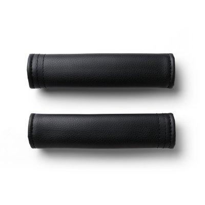 Poussette bee5 complète châssis alu + housse noir + capote rouge chiné + poignées noir Bugaboo