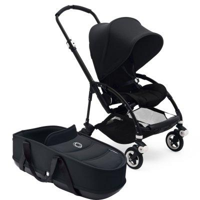 Pack poussette duo bee5 complète châssis habillage et nacelle noir Bugaboo