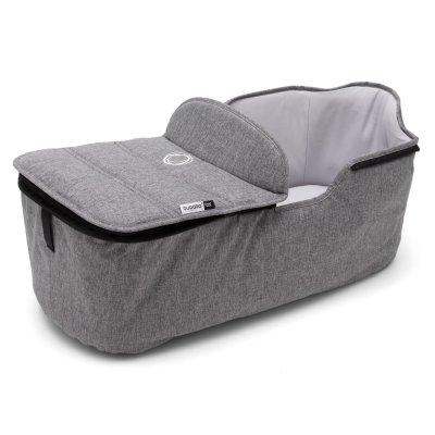Pack poussette duo fox alu + housse de siège et habillage nacelle gris chiné Bugaboo