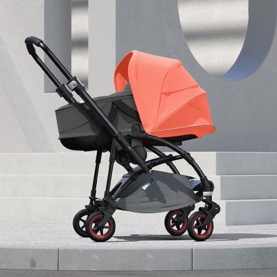 Pack poussette duo bee5 avec nacelle coral Bugaboo