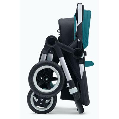 Pack poussette duo donkey+ mono avec capote et tablier bleu pétrole Bugaboo