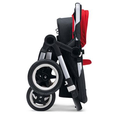 Pack poussette duo donkey+ mono avec capote et tablier rouge Bugaboo